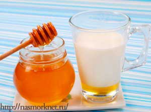 молоко и мед при кашле