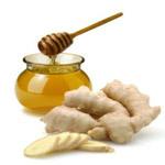 корень имбиря и мед